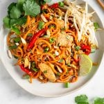 Healthy Chicken Pad Thai (Paleo/Whole30) Pinterest Image