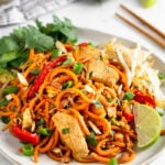 Healthy Chicken Pad Thai (Paleo/Whole30)