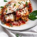 Healthy Instant Pot Eggplant Parmesan Pinterest image