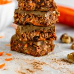 No Bake Carrot Cake Protein Bars (Vegan) Pinterest Image
