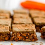 No Bake Carrot Cake Protein Bars (Vegan)