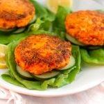 Harissa Salmon Burgers with Harissa Aioli Pinterest image