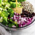 Healthy Broccoli Salad Pinterest image