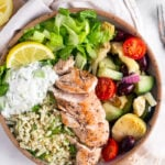 Greek Chicken Bowls (Zoe's Kitchen Copycat)