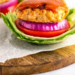 Grilled chicken burgers Pinterest image