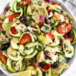 Greek Chicken Pasta Salad with Zucchini Noodles