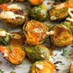 Buffalo Brussel Sprouts Pinterest image
