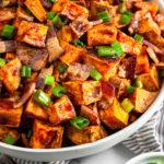 Whiskey Glazed Sweet Potatoes Pinterest image
