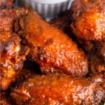 Air Fryer Buffalo Wings Pinterest image