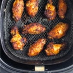 Air Fryer Chicken Wings Pinterest image