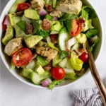 Chopped Chicken Bacon Ranch Salad Pinterest image