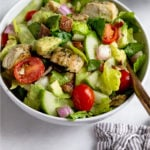 Whole30 Chicken Bacon Ranch Salad Pinterest image