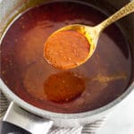 Homemade enchilada sauce Pinterest image