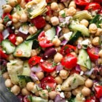 Greek chickpea salad Pinterest image