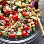 Chickpea salad recipe Pinterest image