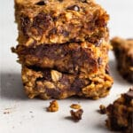 Oatmeal chocolate chip bars Pinterest image