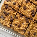 Peanut Butter Oatmeal Chocolate Chip Bars Pinterest image
