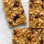 Oatmeal Raisin Protein Bars Pinterest image