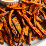 Air Fryer Sweet Potato Fries Pinterest image