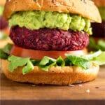 Beet Burger Recipe (Vegan) Pinterest image