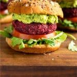 Beet burger recipe no beans Pinterest image