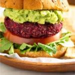 Vegan Beet Burger Pinterest image