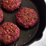 Beet Lentil Burger Pinterest image