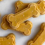 Homemade peanut butter dog treats Pinterest image