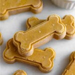 Pumpkin peanut butter dog treats Pinterest image