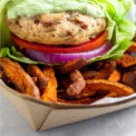 Healthy chicken burger recipe Pinterest image