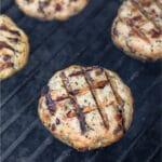 Grilled chicken burger Pinterrest image