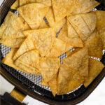 Air fryer tortilla chip recipe Pinterest image