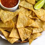 Tortilla chips air fryer Pinterest image