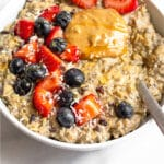 Riced cauliflower oatmeal Pinterest image