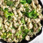 Chicken ranch pasta Pinterest image