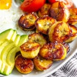Fried sweet plantains Pinterest image