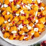 Butternut squash and pomegranate recipes Pinterest image