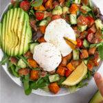 Poached Egg Salad Pinterest image