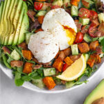 Breakfast Salad with Avocado & Eggs Pinterest image