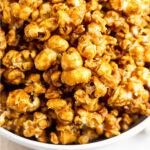 Caramel popcorn recipe Pinterest image