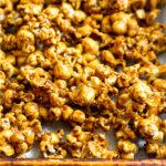 Easy caramel corn Pinterest image