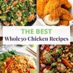 Whole30 Chicken Recipes Pinterest image