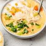 Creamy buffalo chicken soup Pinterest image