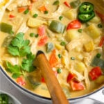 Healthy creamy chicken soup Pinterest image