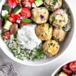 Mediterranean meatballs Pinterest image