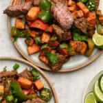 Steak and sweet potato recipes Pinterest image