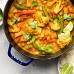 Vegan Cauliflower Chickpea Curry Pinterest image