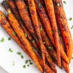Grilled Carrots with Cinnamon & Chipotle Pinterest image