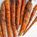 Easy Grilled Carrot Recipe Pinterest image