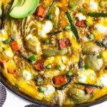 Asparagus Sweet Potato Frittata Pinterest image